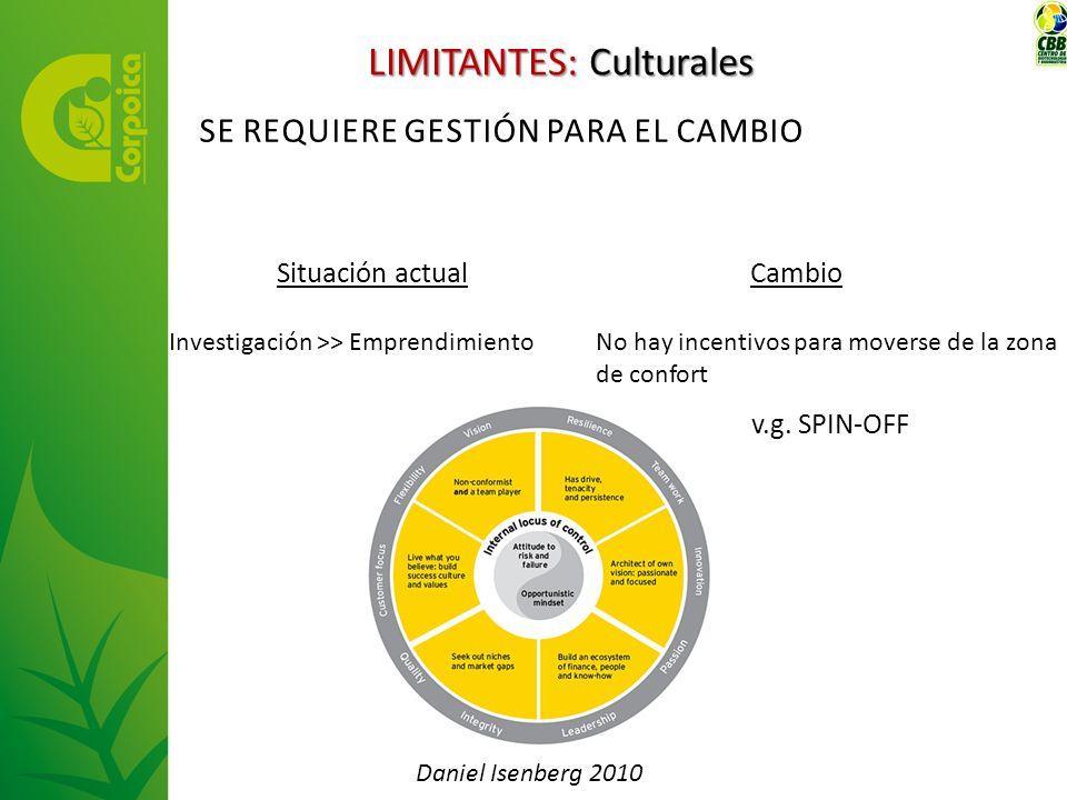 LIMITANTES: Culturales