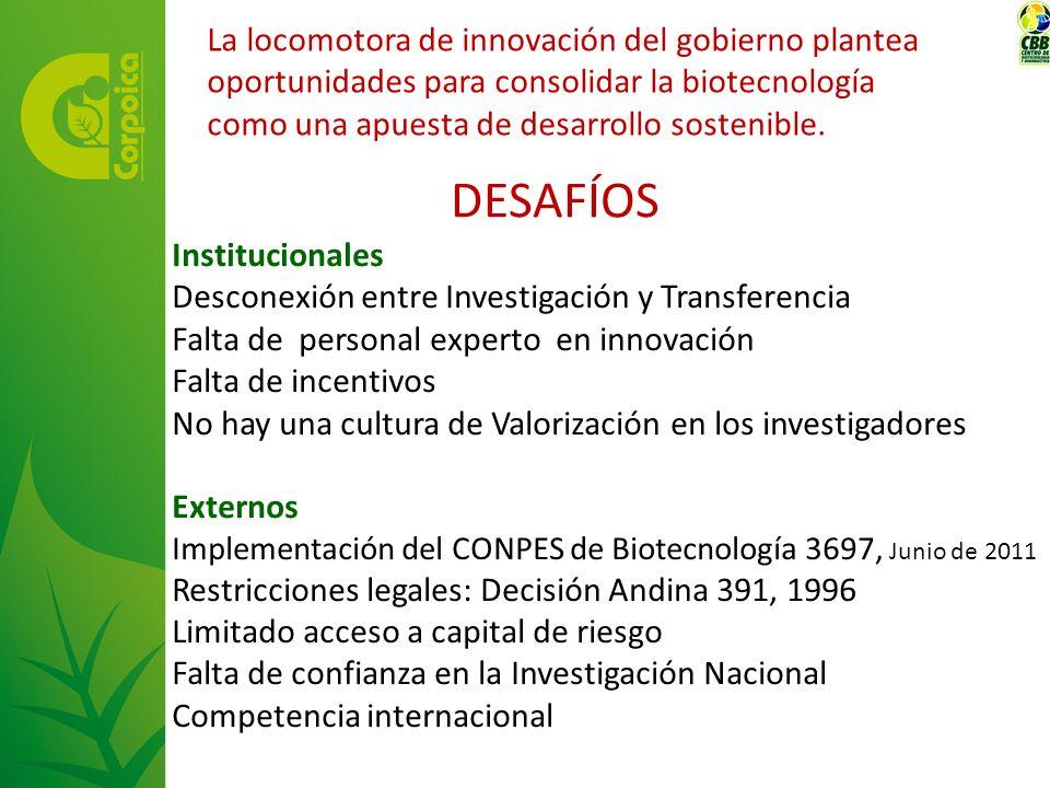 La locomotora de innovación del gobierno plantea oportunidades para consolidar la biotecnología como una apuesta de desarrollo sostenible.