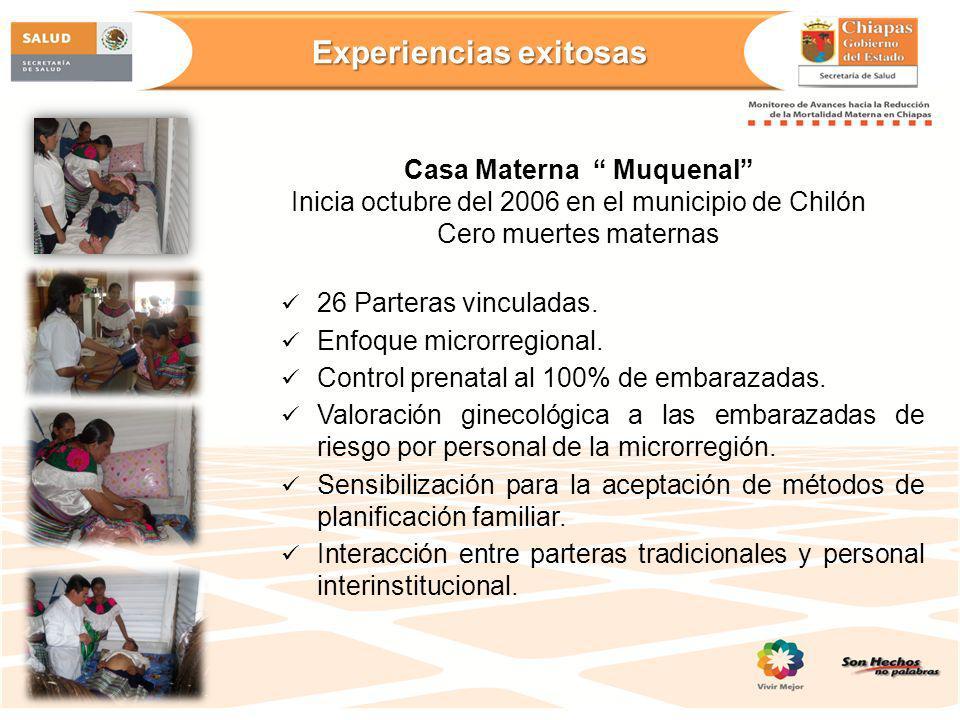 Experiencias exitosas Casa Materna Muquenal