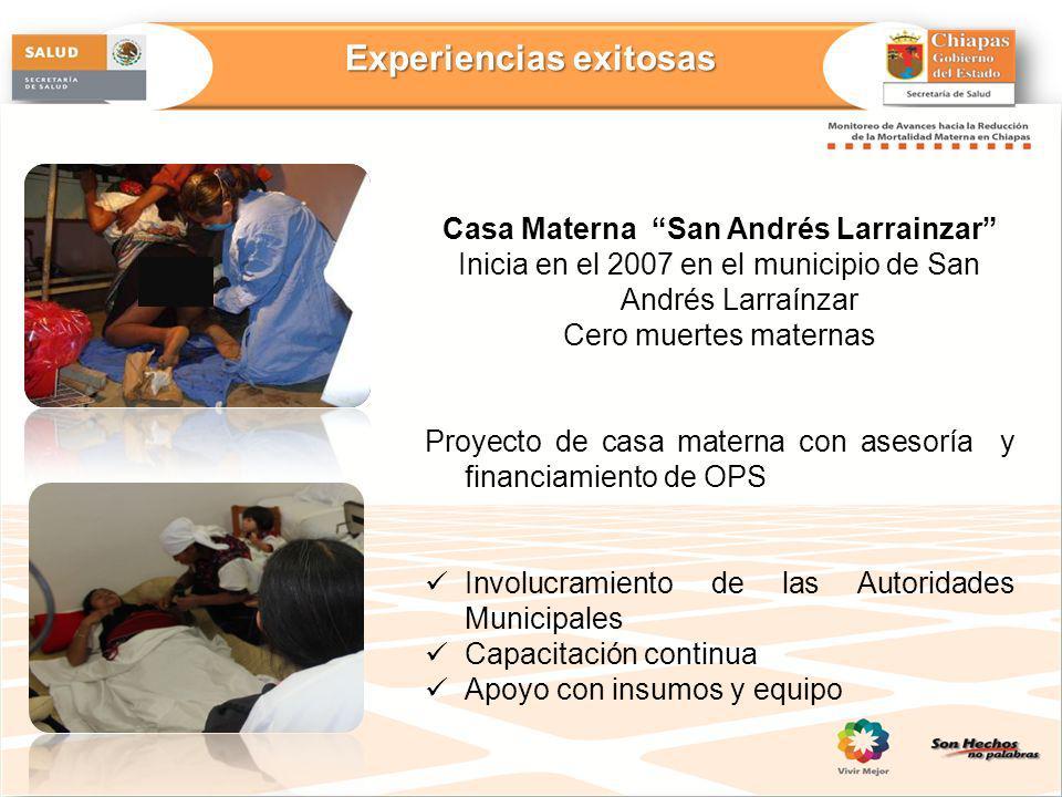 Experiencias exitosas Casa Materna San Andrés Larrainzar
