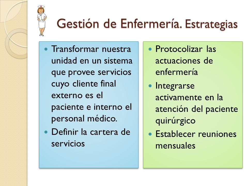 Gestión de Enfermería. Estrategias