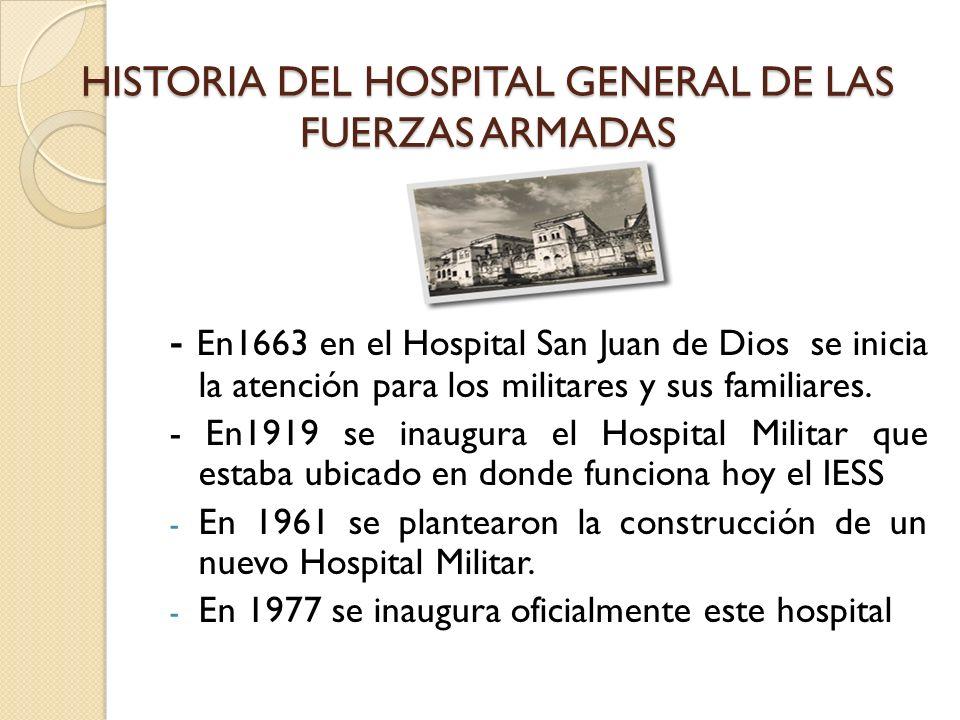 HISTORIA DEL HOSPITAL GENERAL DE LAS FUERZAS ARMADAS