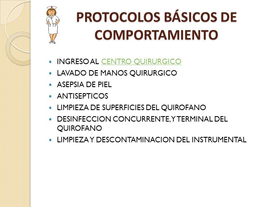 PROTOCOLOS BÁSICOS DE COMPORTAMIENTO