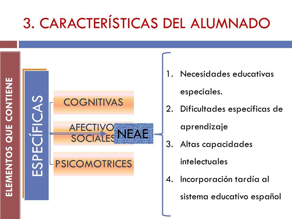 3. CARACTERÍSTICAS DEL ALUMNADO