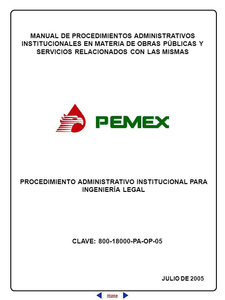 PROCEDIMIENTO ADMINISTRATIVO INSTITUCIONAL PARA INGENIERÍA LEGAL