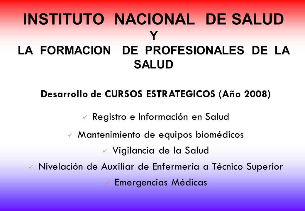 Desarrollo de CURSOS ESTRATEGICOS (Año 2008)