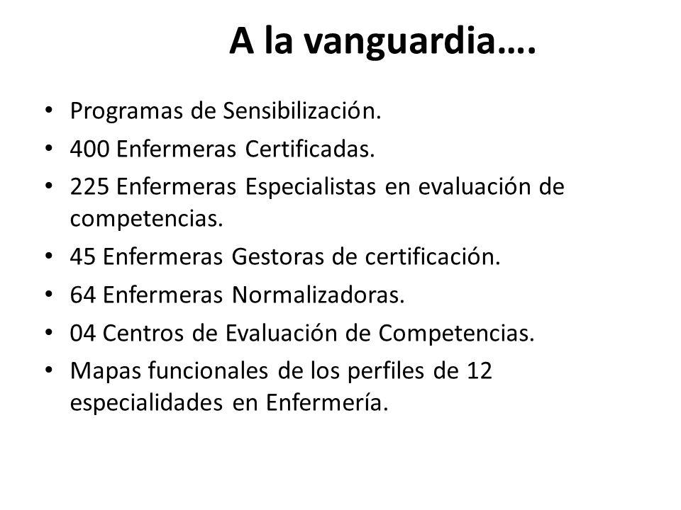 A la vanguardia…. Programas de Sensibilización.