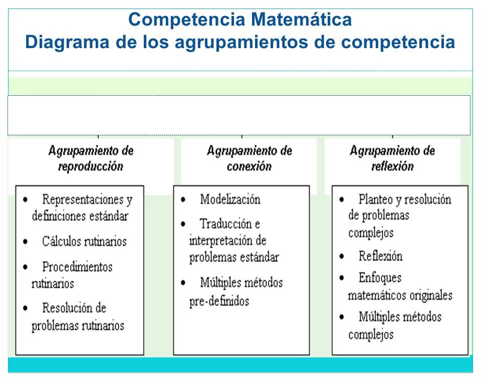 Competencia Matemática Diagrama de los agrupamientos de competencia