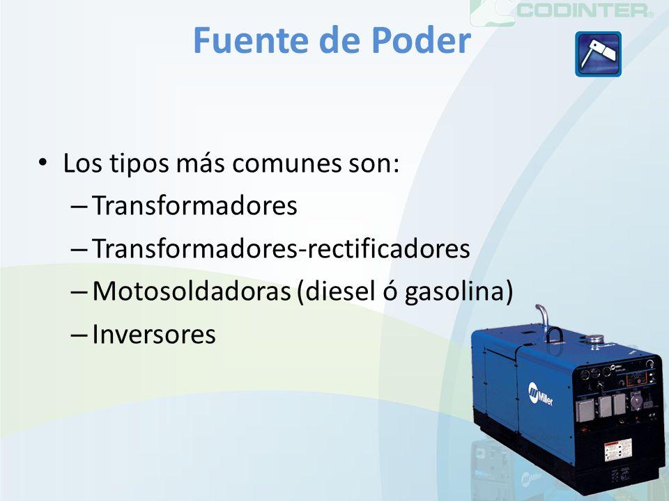 Fuente de Poder Los tipos más comunes son: Transformadores