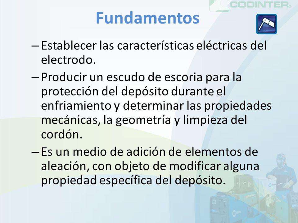 Fundamentos Establecer las características eléctricas del electrodo.