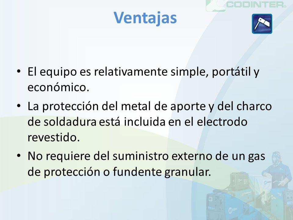 Ventajas El equipo es relativamente simple, portátil y económico.