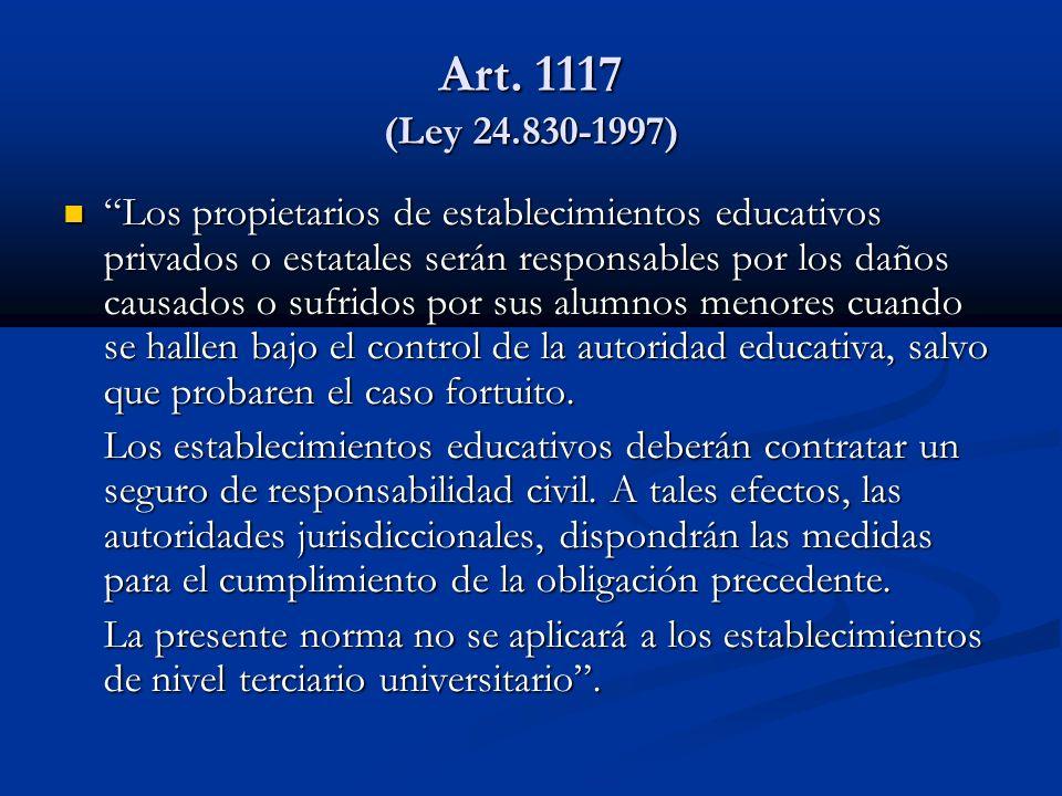 Art. 1117 (Ley 24.830-1997)