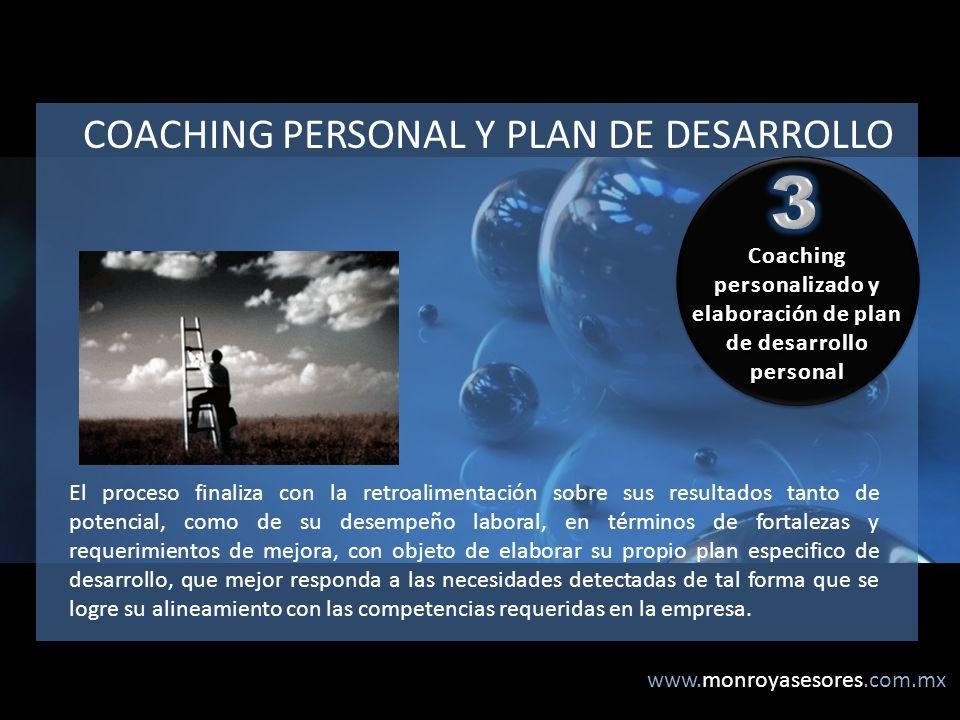 Coaching personalizado y elaboración de plan de desarrollo personal