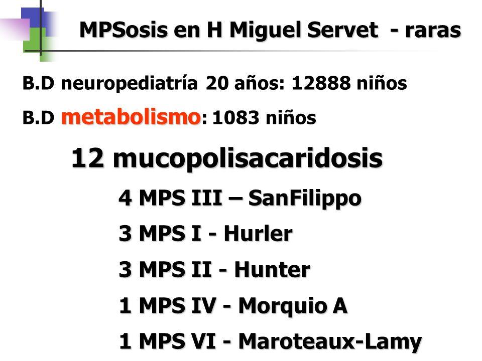 MPSosis en H Miguel Servet - raras