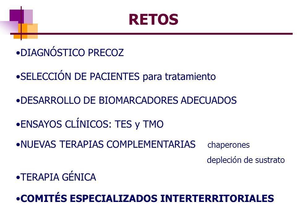 RETOS DIAGNÓSTICO PRECOZ SELECCIÓN DE PACIENTES para tratamiento