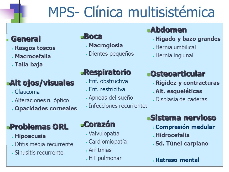 MPS- Clínica multisistémica