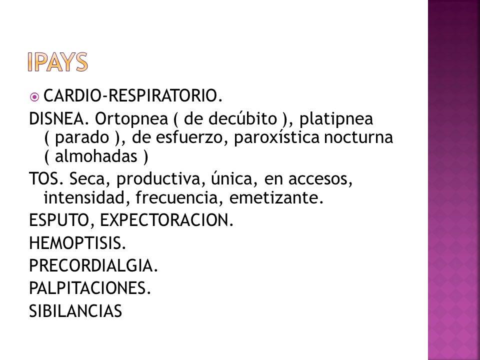 IPAYS CARDIO-RESPIRATORIO.