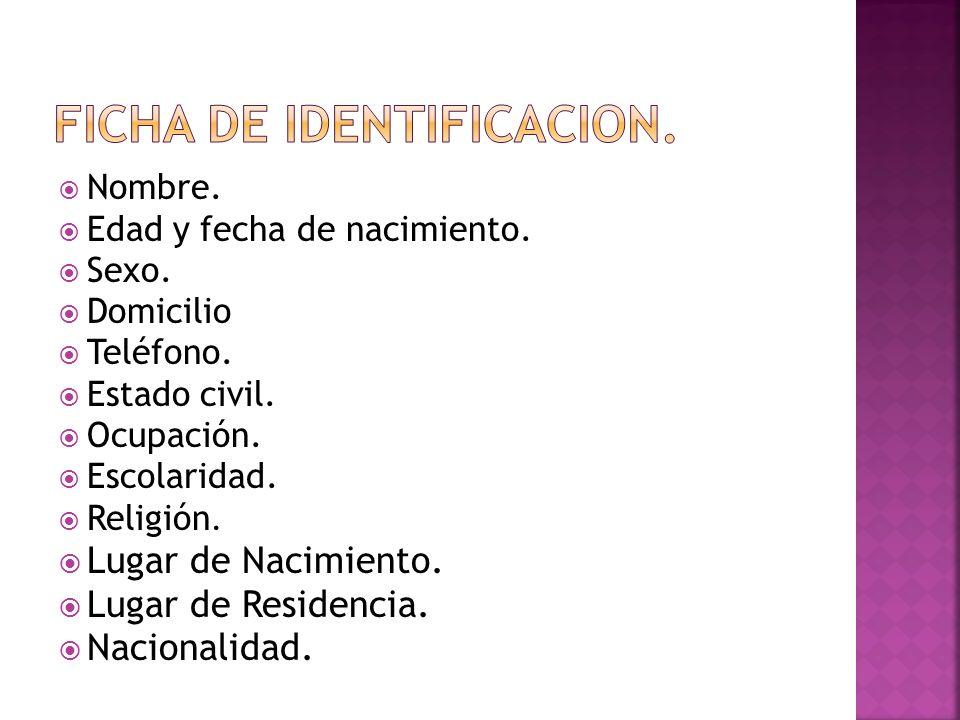 FICHA DE IDENTIFICACION.