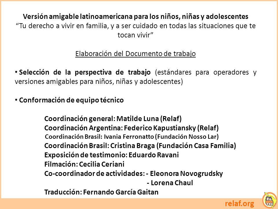 Versión amigable latinoamericana para los niños, niñas y adolescentes
