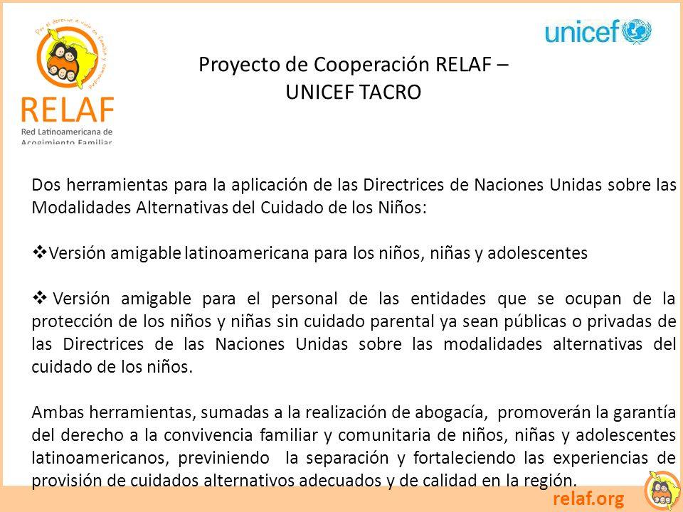 Proyecto de Cooperación RELAF –
