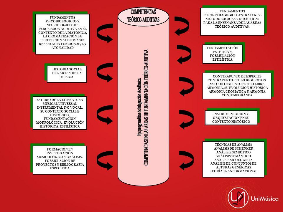 COMPETENCIAS EN LAS ÁREAS DE FUNDAMENTACIÓN TEÓRICO-AUDITIVA