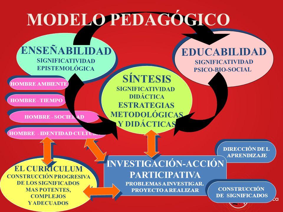 MODELO PEDAGÓGICO ENSEÑABILIDAD EDUCABILIDAD SÍNTESIS