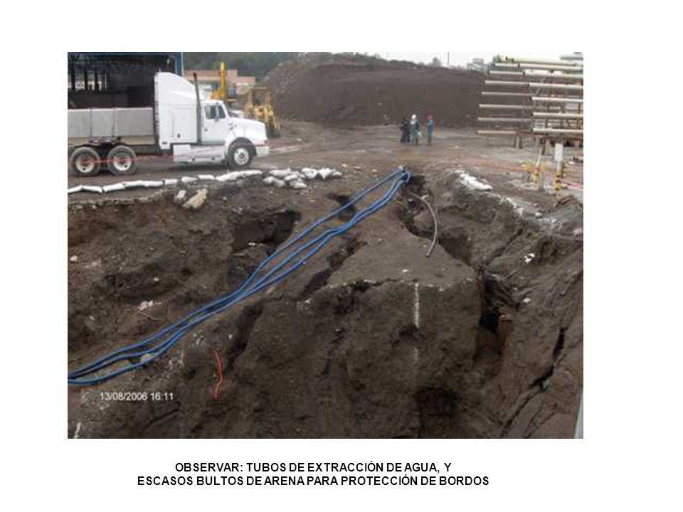 OBSERVAR: TUBOS DE EXTRACCIÓN DE AGUA, Y