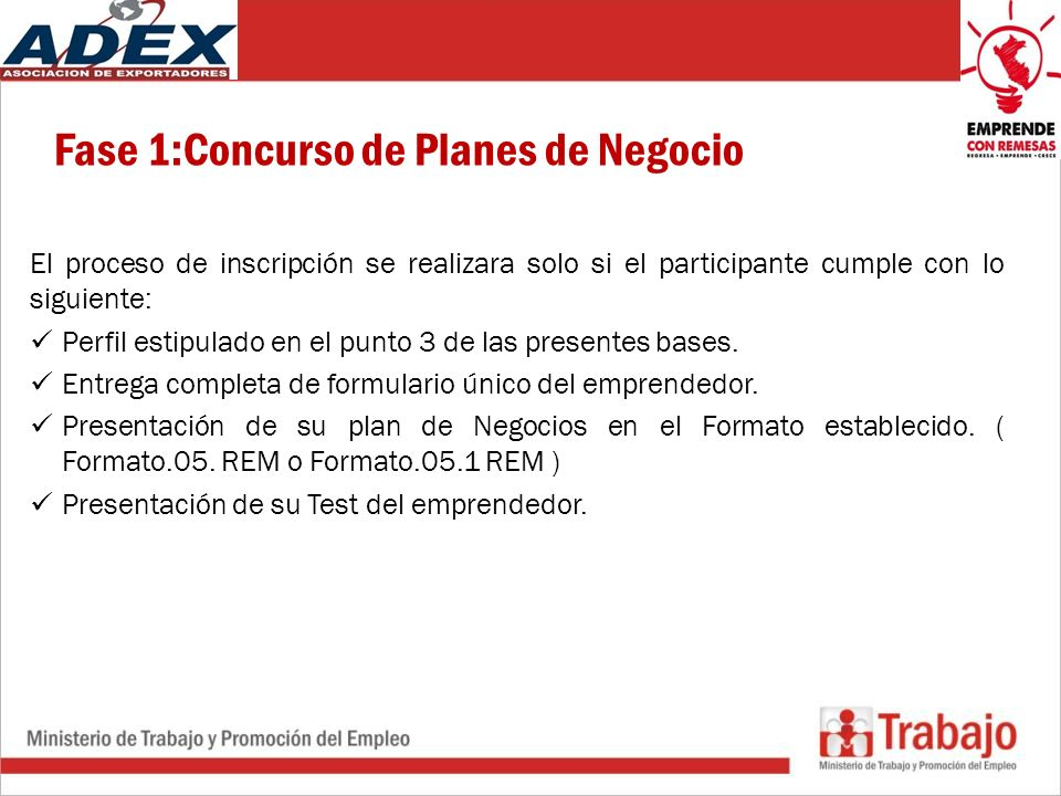 Fase 1:Concurso de Planes de Negocio