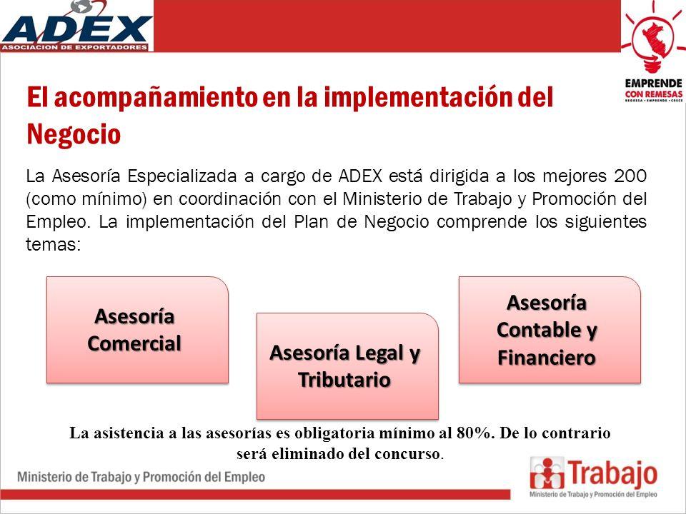Asesoría Contable y Financiero Asesoría Legal y Tributario