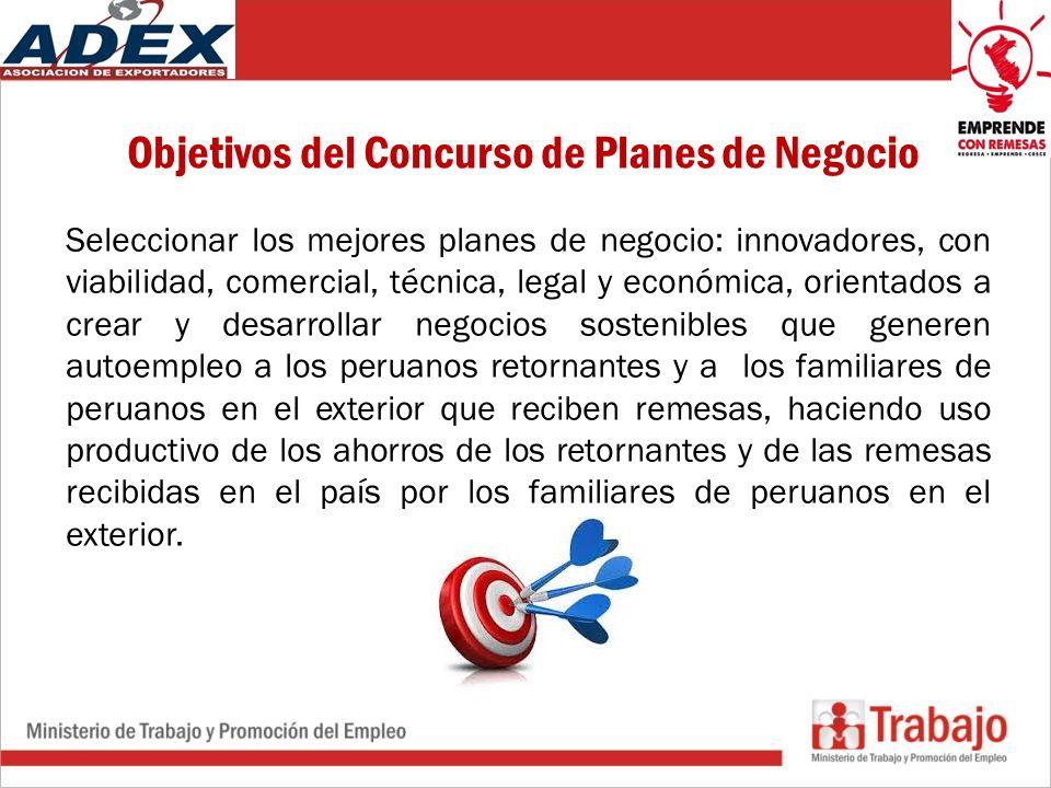 Objetivos del Concurso de Planes de Negocio