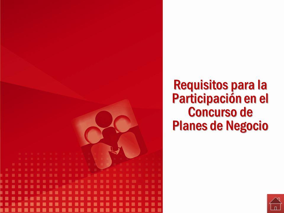 Requisitos para la Participación en el Concurso de Planes de Negocio