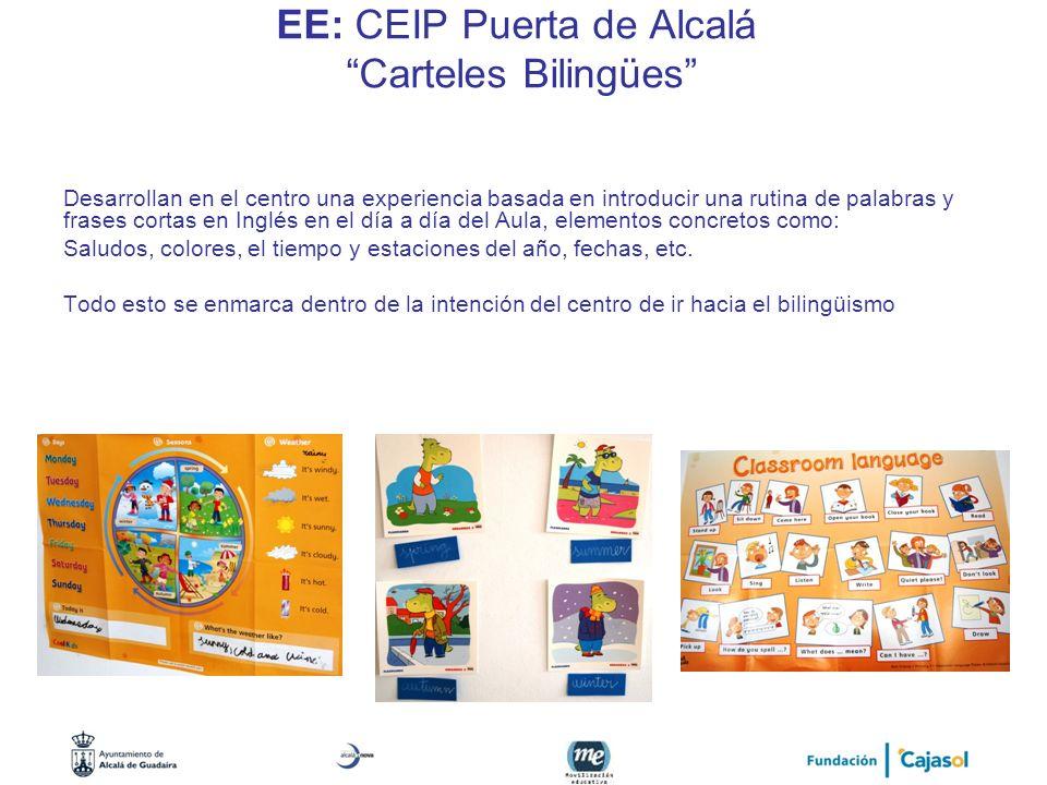 EE: CEIP Puerta de Alcalá Carteles Bilingües