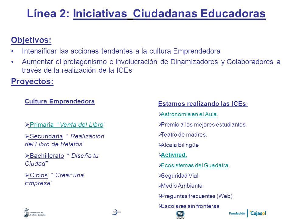 Línea 2: Iniciativas Ciudadanas Educadoras