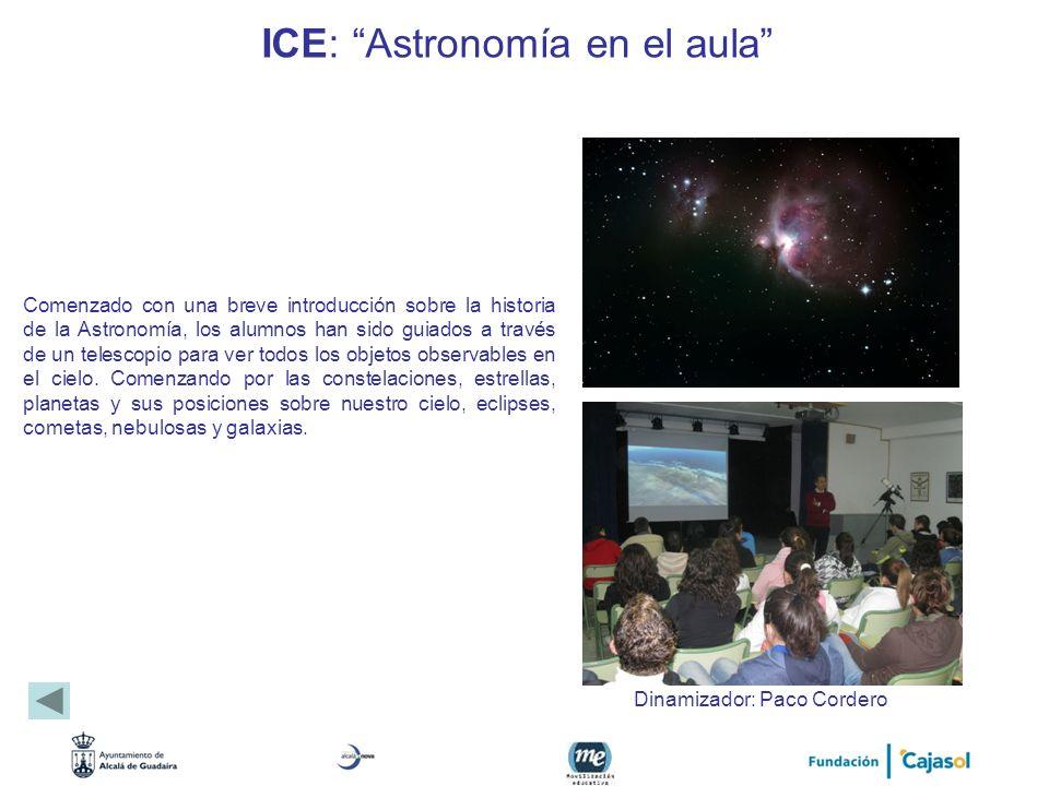 ICE: Astronomía en el aula