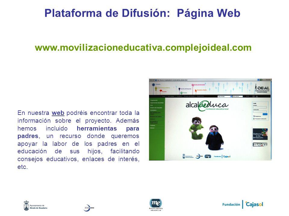 Plataforma de Difusión: Página Web
