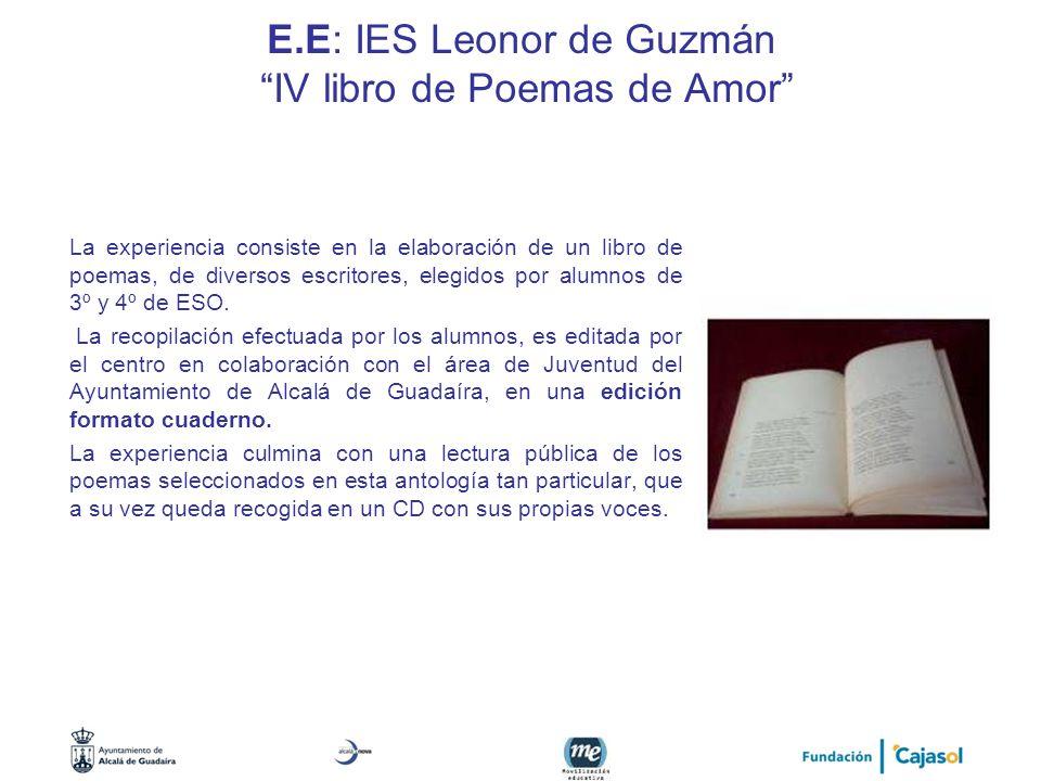 E.E: IES Leonor de Guzmán IV libro de Poemas de Amor