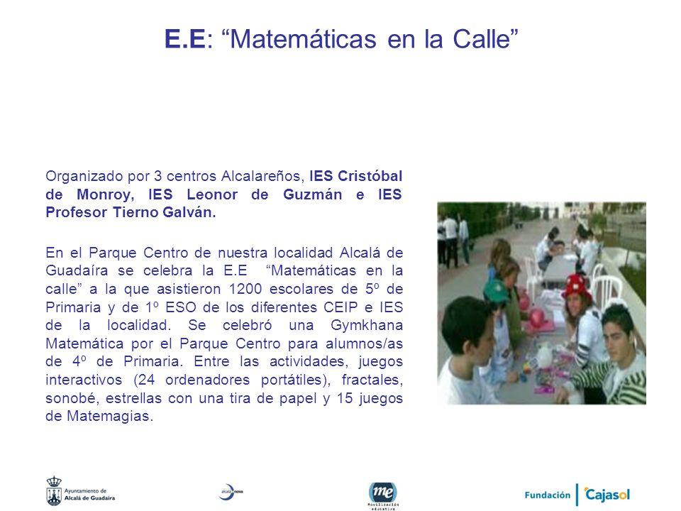 E.E: Matemáticas en la Calle