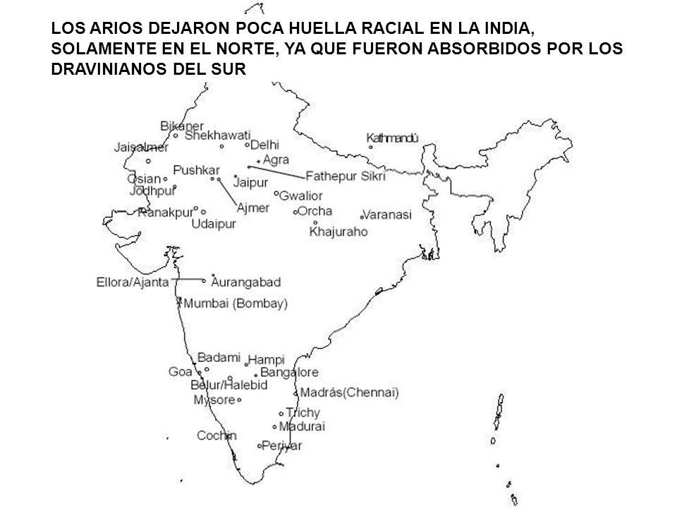 LOS ARIOS DEJARON POCA HUELLA RACIAL EN LA INDIA,