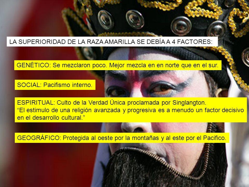 LA SUPERIORIDAD DE LA RAZA AMARILLA SE DEBÍA A 4 FACTORES: