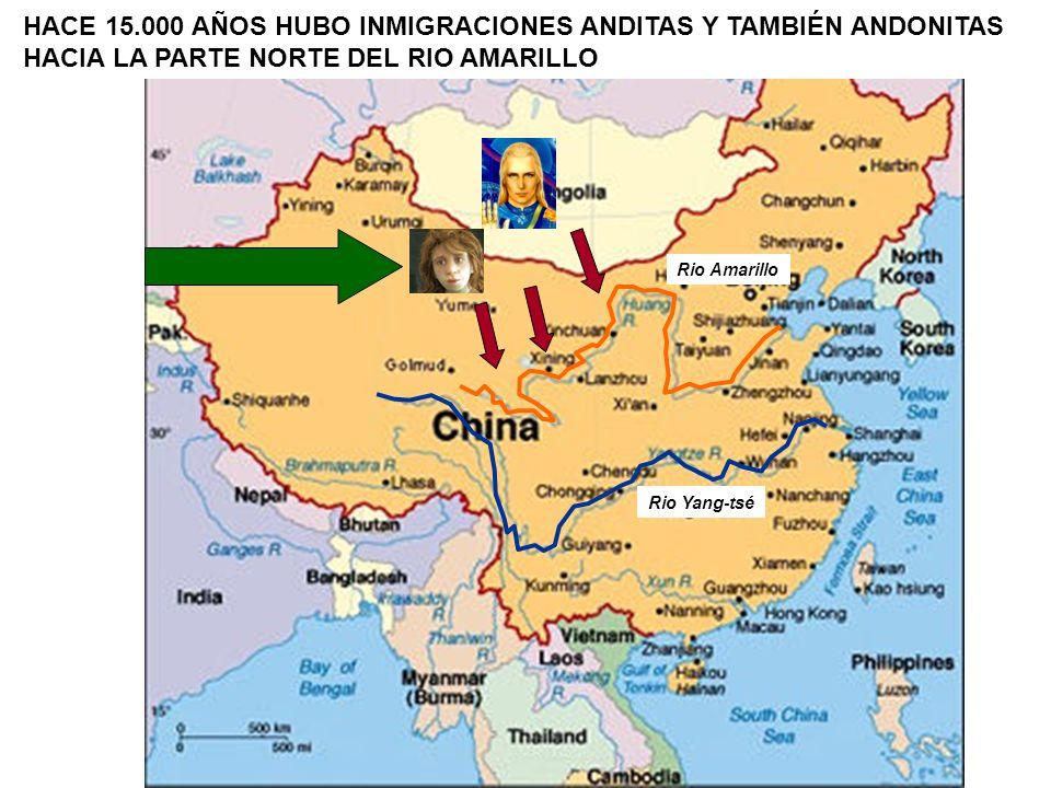 HACE 15.000 AÑOS HUBO INMIGRACIONES ANDITAS Y TAMBIÉN ANDONITAS