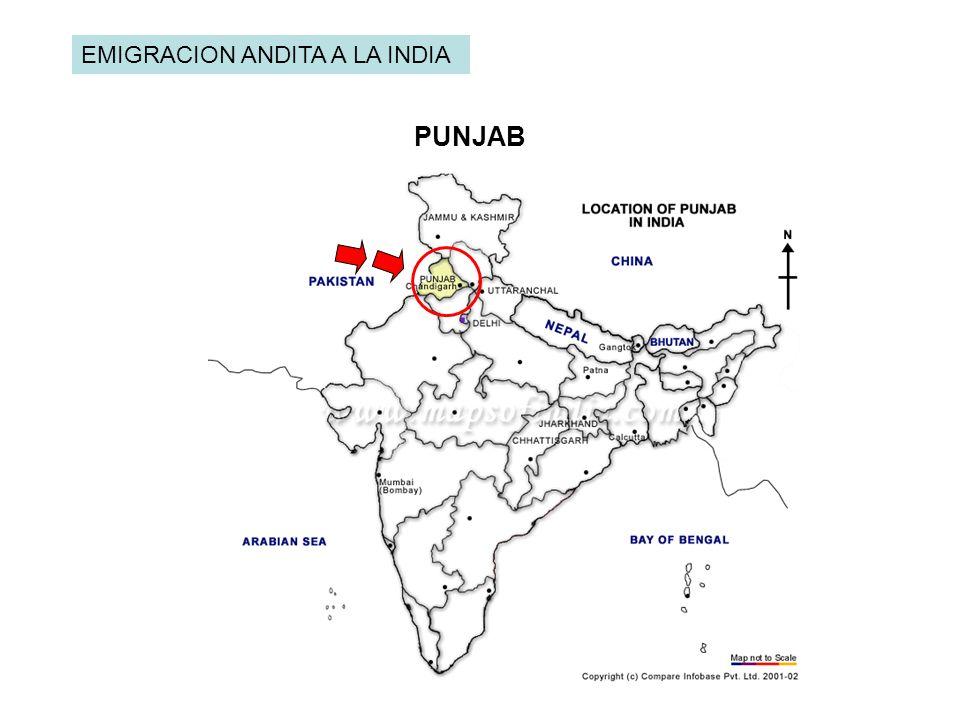 EMIGRACION ANDITA A LA INDIA