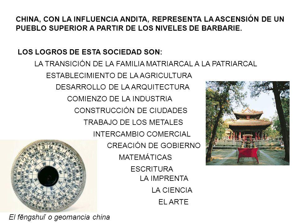CHINA, CON LA INFLUENCIA ANDITA, REPRESENTA LA ASCENSIÓN DE UN