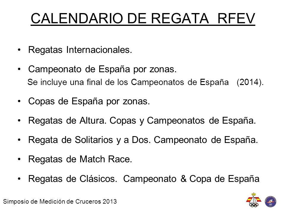 CALENDARIO DE REGATA RFEV