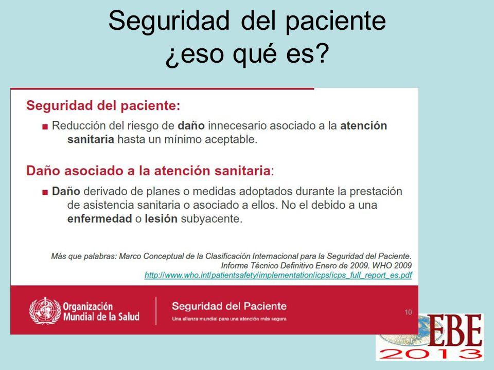 Seguridad del paciente ¿eso qué es