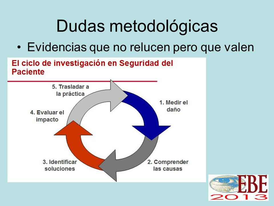 Dudas metodológicas Evidencias que no relucen pero que valen