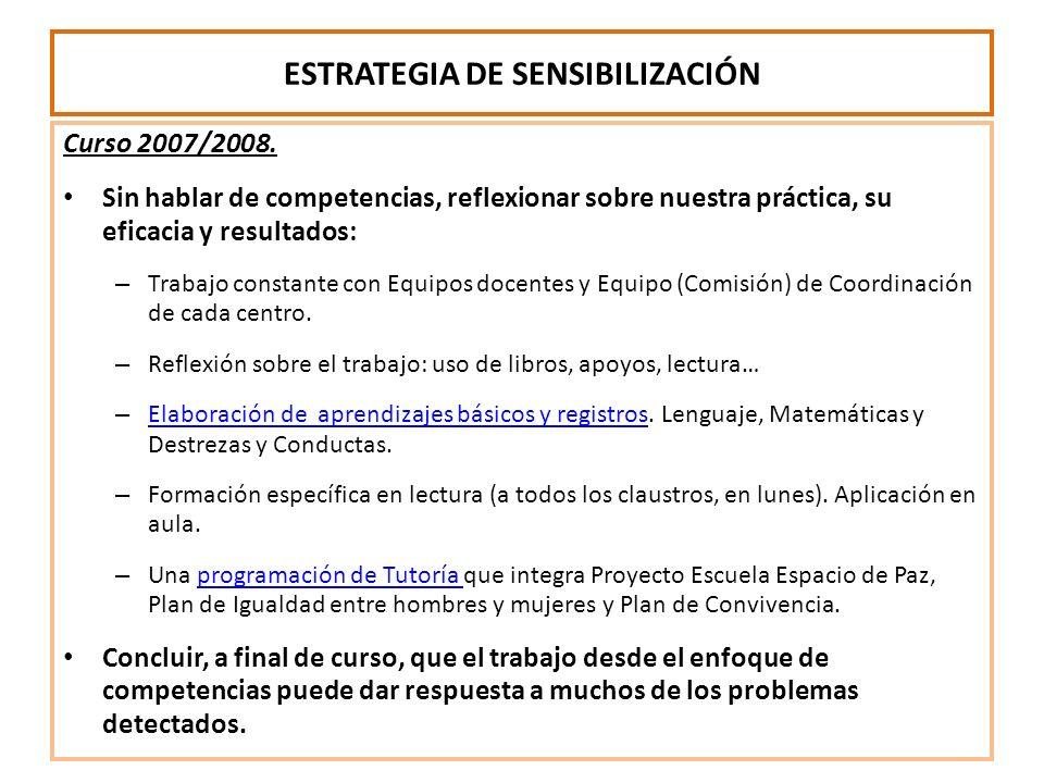 ESTRATEGIA DE SENSIBILIZACIÓN