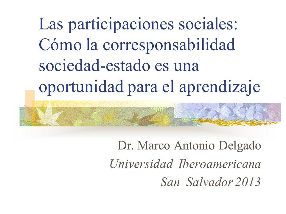 Dr. Marco Antonio Delgado Universidad Iberoamericana San Salvador 2013