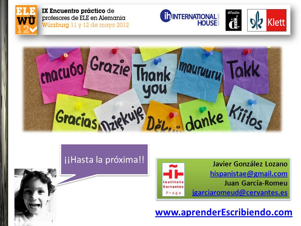www.aprenderEscribiendo.com ¡¡Hasta la próxima!!