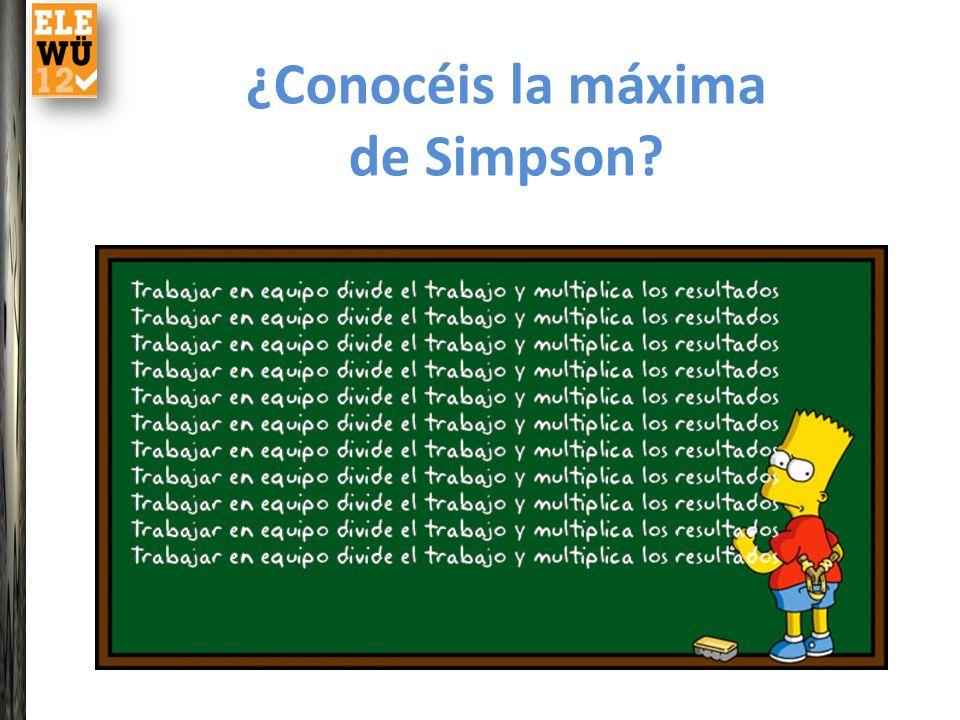 ¿Conocéis la máxima de Simpson