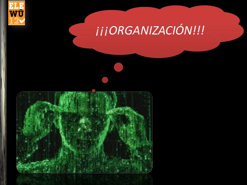 ¡¡¡ORGANIZACIÓN!!! Necesitamos un poquito de Organización para experimentar la propuesta práctica